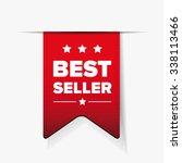 best seller red ribbon vector | Shutterstock .eps vector #338113466