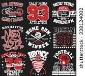 sport typography graphics... | Shutterstock .eps vector #338124002