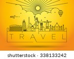 linear landmarks of the world... | Shutterstock .eps vector #338133242
