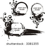 grunge frame series. add your... | Shutterstock .eps vector #3381355
