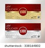 gold vip club card. voucher... | Shutterstock .eps vector #338164802
