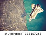 Space Shuttle Orbiting The...