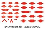 red luxury premium labels and... | Shutterstock .eps vector #338190902