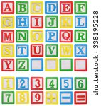 Wooden Alphabet And Numbers...