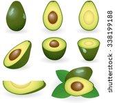 vector illustration of avocado | Shutterstock .eps vector #338199188