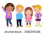 group of kids | Shutterstock .eps vector #338204186