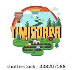 timisoara beautiful city in...   Shutterstock .eps vector #338207588