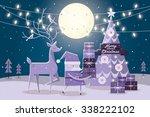 Christmas Tree Reindeer Santa...