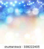 vector winter frozen background ... | Shutterstock .eps vector #338222405