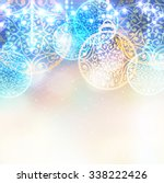 christmas laced balls with... | Shutterstock .eps vector #338222426