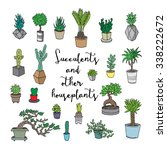 succulents and other... | Shutterstock .eps vector #338222672