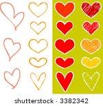 hearts set   each heart can be... | Shutterstock .eps vector #3382342