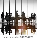 business people meeting... | Shutterstock . vector #338234228