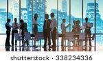 business people meeting... | Shutterstock . vector #338234336