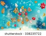 unusual christmas background ... | Shutterstock . vector #338235722