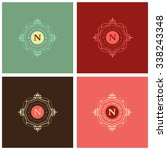 the letter n made in modern...   Shutterstock .eps vector #338243348