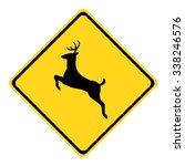 U.s. Deer Crossing Sign