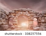 ruins of ancient temple in...   Shutterstock . vector #338257556