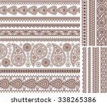 super set of ornamental...   Shutterstock .eps vector #338265386
