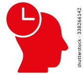 time thinking vector icon.... | Shutterstock .eps vector #338266142