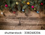 abstract christmas background... | Shutterstock . vector #338268206
