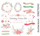 wedding graphic set with... | Shutterstock .eps vector #338270342