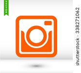 retro camera icon. one of set... | Shutterstock .eps vector #338271062
