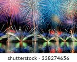 Fireworks Display Reflecting I...