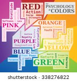 the psychology of colors word... | Shutterstock .eps vector #338276822