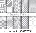 set of 10 abstract patterns.... | Shutterstock .eps vector #338278736