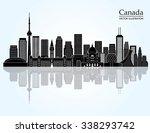 canada landmark skyline. vector