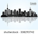 canada landmark skyline. vector ... | Shutterstock .eps vector #338293742