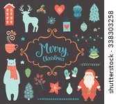 merry christmas decoration... | Shutterstock .eps vector #338303258