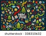 vector hand drawn doodle... | Shutterstock .eps vector #338310632