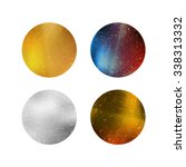 colorful shiny isolated circles.... | Shutterstock .eps vector #338313332