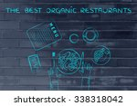 the best organic restaurants ... | Shutterstock . vector #338318042