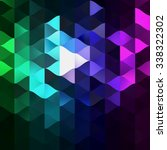 low polygon triangle pattern... | Shutterstock . vector #338322302