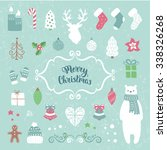 merry christmas decoration... | Shutterstock .eps vector #338326268