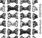 seamless vector black and white ... | Shutterstock .eps vector #338329526