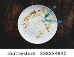 empty white plate after eating... | Shutterstock . vector #338334842