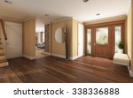 big foyer in country house 3d... | Shutterstock . vector #338336888