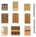 set icons furniture wardrobe... | Shutterstock .eps vector #338339696