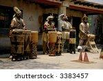 african drummers performing an... | Shutterstock . vector #3383457