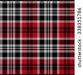 red knitted plaid tartan pattern   Shutterstock .eps vector #338351786
