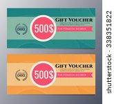 gift voucher template with... | Shutterstock .eps vector #338351822