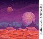 fantasy alien landscape  vector ... | Shutterstock .eps vector #338352335