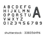 alphabet and arabic numerals... | Shutterstock . vector #338356496