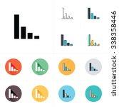 vector growing graph icon | Shutterstock .eps vector #338358446