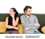 wife and husband yelling to... | Shutterstock . vector #33836035