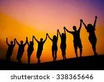 Small photo of Success Celebration Cheerful Achievement Concept